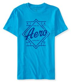 Camiseta Aeropostale Mascuina AERO DIAMOND - Azul