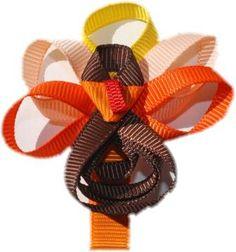 Turkey Ribbon Sculpture Hair Clip