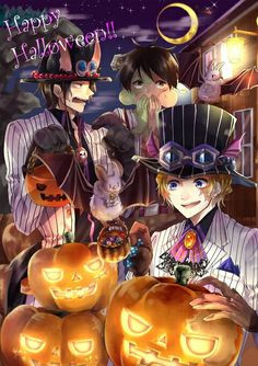 piece halloween anime Where stories live One Piece Meme, One Piece Comic, Sabo One Piece, One Piece Luffy, Anime Halloween, Fete Halloween, Happy Halloween, One Piece Pictures, One Piece Images