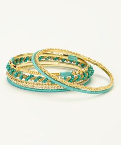 Gold & Turquoise Bangles