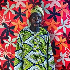 #Nigerian man against flower wallpaper in #Lagos by @edkashi @viiphoto