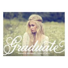 Boho Graduation Postcard Invitation Graduation Invitations
