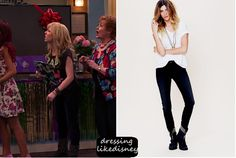 """Jennette Wears these Skinny Stretch Blue Jeans in this weeks episode of Sam & Cat, """"#TheBritBrats"""" from Free People"""