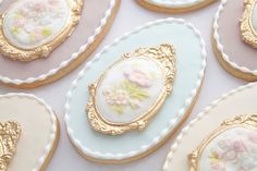 Beautifully decorated Easter cookies