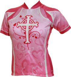 Women's Faith, Hope, & Love cycling and biking jersey.