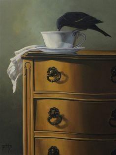 Helen Griffiths Art: It's been A Long Day, 18x24 oil SOLD