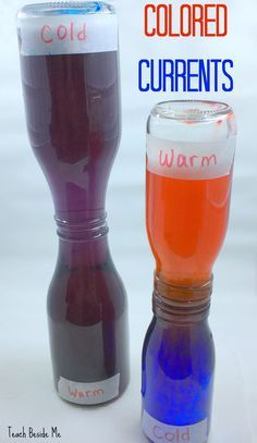 Colored Convection Currents experiment- learn about heat rising! STEM FUN! via @karyntripp