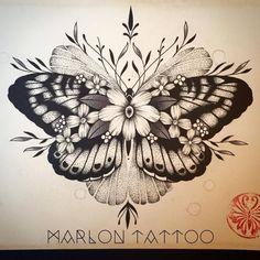 Marlon Tattoo - Lyon / France - Tattoo design - Butterfly