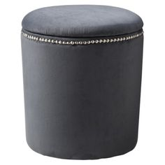 this little ottoman is heartable. gray velvet, simple, hidden storage, from target, only around $27!!! online only.