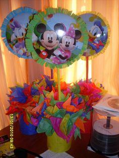 Centros De Mesa De Mickey Mouse - BsF 120,00 en MercadoLibre