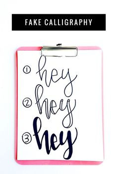 How to Learn Hand Lettering, Brush Lettering, and Fake Calligraphy Tutorial for Beginners: the Child at Heart blog