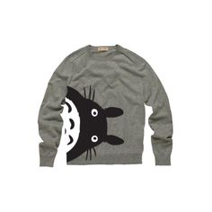 Totoro Crewneck Sweatshirt ❤ liked on Polyvore featuring tops, sweaters, shirts, sweatshirts and filler