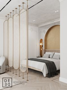 DE&DE/Apart hotel in the heart of Saint-Petersburg on Behance Master Bedroom Interior, Bedroom Decor, Attic Bedrooms, Wall Decor, Modern Interior, Interior Architecture, Partition Design, Partition Screen, Interior Design Photography
