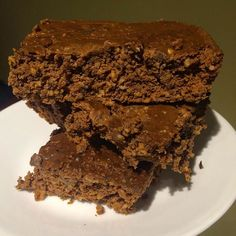 Changed up the recipe a touch but finally made some #katieannebrownies 100 cals per brownie, 8grams of protein, 13grams of carbs & 1gram of fat. Recipe in comments!