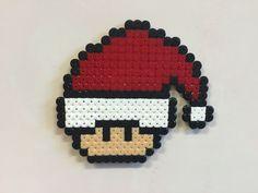 Perler bead mushroom Santa - by Bjrnbr