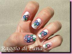 Matte flowers on white by Raggio_Di_Luna_Nails