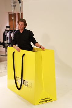 Every girl needs a shopping bag this size #VFNO #MissguidedAtVFNO #Selfridges #Yellow #Fashion #Missguided