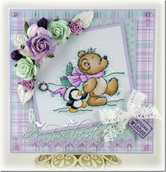 Teddy and Penguin from Lili of the Valley stamps