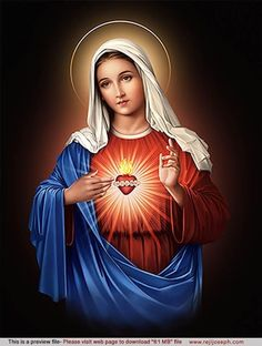 HD Devotional and free Stock HD Images: Immaculate Heart of Mary_Red_ 72 MB Mother Mary Pictures, Jesus And Mary Pictures, Catholic Pictures, Images Of Mary, Pictures Of Jesus Christ, Mama Mary Images, Hd Images, Mary Jesus Mother, Blessed Mother Mary