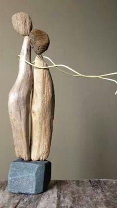Driftwood Sculpture, Driftwood Art, Driftwood Projects, Beach Crafts, Wooden Art, Nature Crafts, Recycled Art, Beach Art, Pebble Art