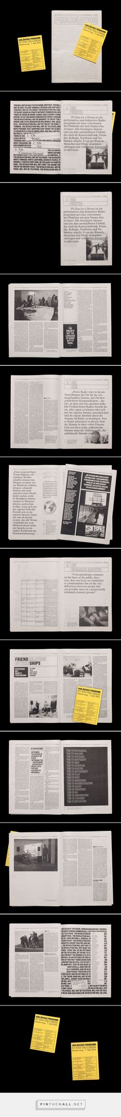 Riso printed newspaper Publication on Behance... - a grouped images picture - Pin Them All