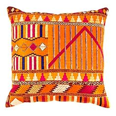 phulkari pillow from Serena and Lilly