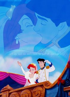 Little Mermaid! Eric & Ariel :) picture idea like the back image in clouds....