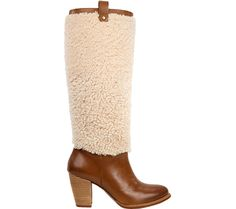 Women's UGG Ava Exposed Fur Boot - Chestnut/Natural with FREE Shipping & Exchanges. The Ava Exposed Fur Boot features a plush sheepskin shaft and sleek 3  stacked heel.  PORON®