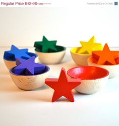 Montessori Toy - Wooden Toy, Sorting  Stars  Educational Toy / Waldorf - theenchantedcupboard. Etsy.