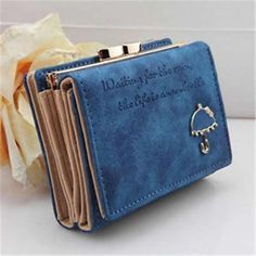 2016 New Fashion Short Faux Leather women wallets Small Umbrella Wallet Button Clutch $5,62