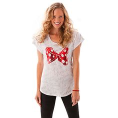 Minnie Mouse Bow Tee for Women | Tees, Tops & Shirts | Disney Store 22.12