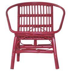 Sanibel Rattan Arm Chair in Fuchsia at Joss & Main