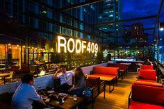 Современное оформление кафе и баров на крыше