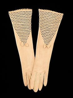 Gloves, Freddy, 1930-39, French, leather