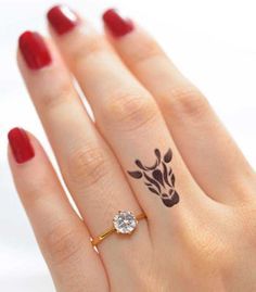 Animal - Finger Tattoo Ideas.  #Tattoo #Inked #WomenTriangle