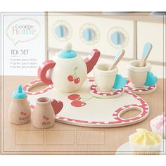 George Home Wooden Tea Set | Wooden Toys | George at ASDA