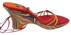 Stuart Weitzman Ankle Tie Red/orange Wood Sz 8 $375 Multicolor Wedges. Get the must-have wedges of this season! These Stuart Weitzman Ankle Tie Red/orange Wood Sz 8 $375 Multicolor Wedges are a top 10 member favorite on Tradesy. Save on yours before they're sold out!
