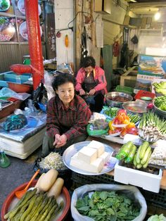 Korean street market
