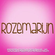 Rozemarijn  (Voor meer inspiratie, en unieke geboortekaartjes kijk op www.heyboyheygirl.nl)