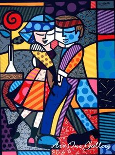 "ROMERO BRITTO  ""Cheek-2-Cheek"""