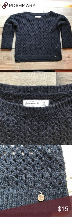 Abercrombie & Fitch | Dark Blue Sweater | XL Abercrombie & Fitch | Dark Blue Sweater | XL Abercrombie & Fitch Sweaters
