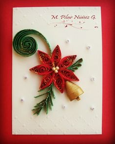 13 Paper Quilling Design Ideas That Will Stun Your Friends – Quilling Techniques Neli Quilling, Paper Quilling Flowers, Paper Quilling Patterns, Quilling Paper Craft, Paper Crafts, Quilling Christmas, Christmas Paper, Christmas Crafts, Christmas Ideas