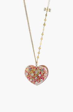 As sweet as candy - Betsy Johnson Long Heart necklace.