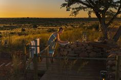 The Malori Sleepout Shower at the Tswalu Kalahari Reserve in the Northern Cape, South Africa