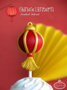 Happy Chinese New Year! Follow this step-by-step tutorial to make red fondant lantern cupcake topper that's sure to light up your celebration.