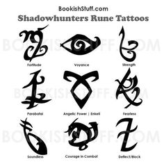 Simbolos Tattoo, Symbol Tattoos, Body Art Tattoos, Witch Symbols, Rune Symbols, Mortal Instruments Tattoo, Design Set, Shadowhunter Tattoo, Teen Wolf Tattoo