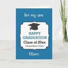 3740 Grandson Graduation Hat Card | Zazzle.com Graduation Cards, Graduation Invitations, College Graduation, Invites, Party Invitations, Graduation Ideas, Congratulations Card, Custom Greeting Cards, Card Sizes