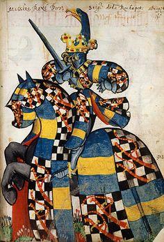 Réegnier Pot, Grand Armorial équestre de la Toison d'Or, Flandres, 1430-1461.