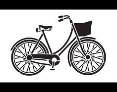 Vintage Bicycle Art Stencil Select Size STCL847 by от StudioR12