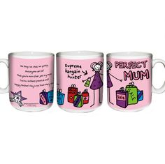 Mothers Day Gift Ideas - Personalised Purple Ronnie Perfect Mum Shopping Mug - £8.99